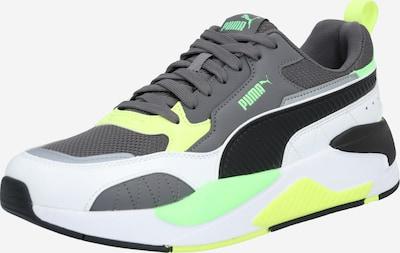 PUMA Sneakers laag 'X-Ray 2 Square' in de kleur Geel / Donkergrijs / Lichtgroen / Zwart / Wit: Vooraanzicht