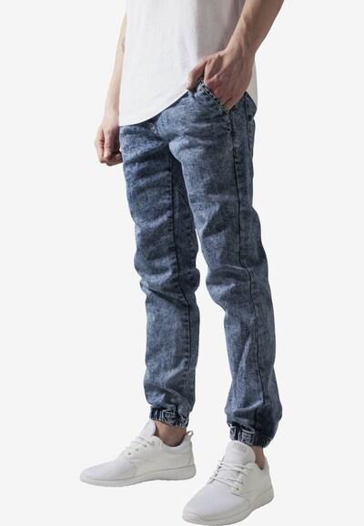 Urban Classics Jeans in de kleur Lichtblauw, Modelweergave