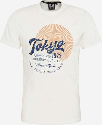 Hailys Men T-Shirt 'Tokio' in dunkelblau / gelb / offwhite, Produktansicht