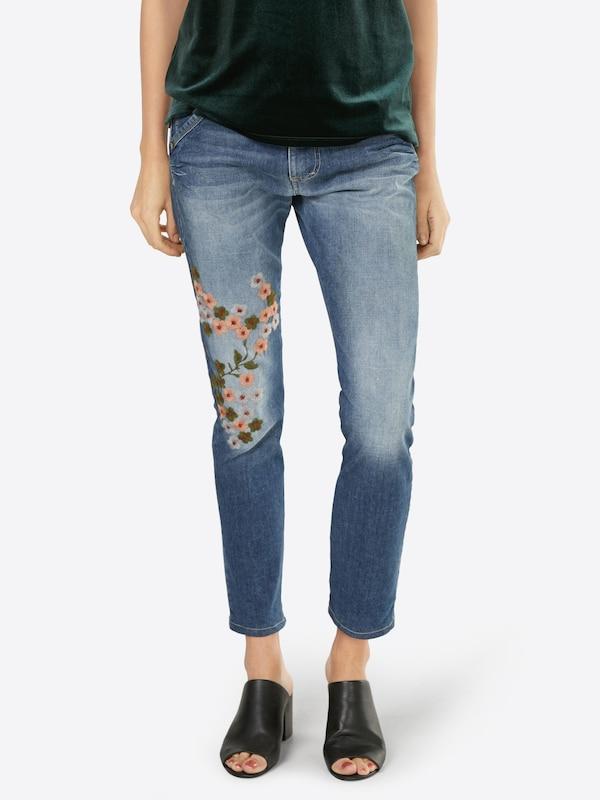 PLEASE Loosefit Jeans mit Stickerei
