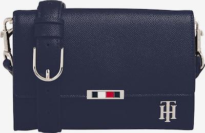TOMMY HILFIGER Taška cez rameno 'SAFFIANO' - tmavomodrá / červené / čierna / biela: Pohľad spredu