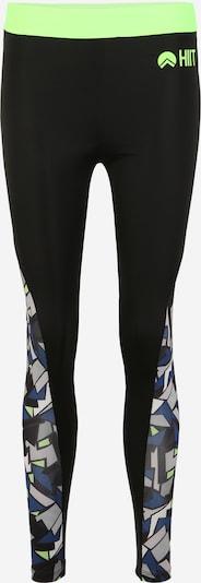 HIIT Sportbroek 'abstract geo' in de kleur Neongroen / Zwart, Productweergave