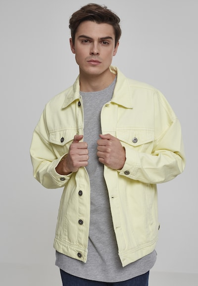 Urban Classics Light Jacket in hellgelb: Frontalansicht