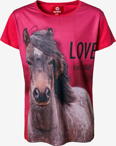 RED HORSE T-Shirt 'HORSY' in pink, Produktansicht