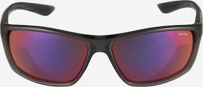 NIKE Sportzonnebril 'Rabid E' in de kleur Grijs / Lila / Rood / Zilver, Productweergave