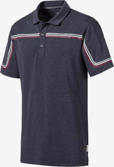 PUMA Polo in blaumeliert / grau / rot / weiß, Produktansicht