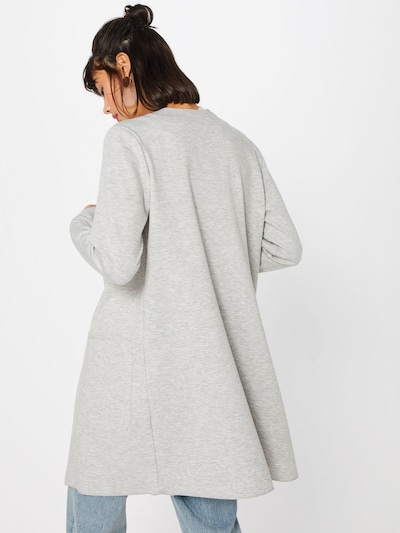 MORE & MORE Cardigan 'Jacke Wirk' in graumeliert: Rückansicht