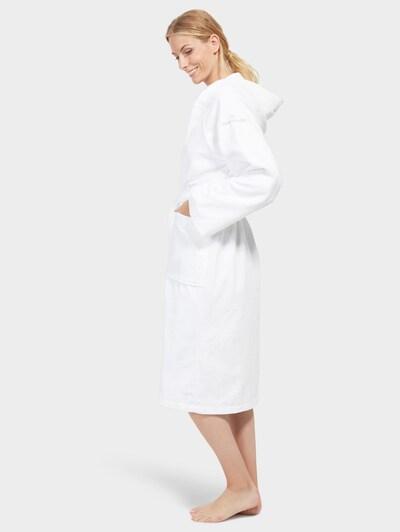 TOM TAILOR Peignoir long en blanc, Vue avec modèle