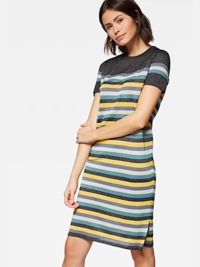 Mavi Kleid in rauchblau / gelb / basaltgrau / weiß, Modelansicht