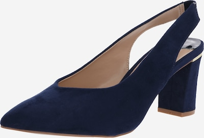 Dorothy Perkins Pumps 'WIDE FIT NAVY EMILY SLING BACK COURT' in navy, Produktansicht