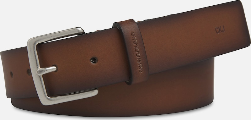 Calvin Klein Leather Belt in braun, Produktansicht