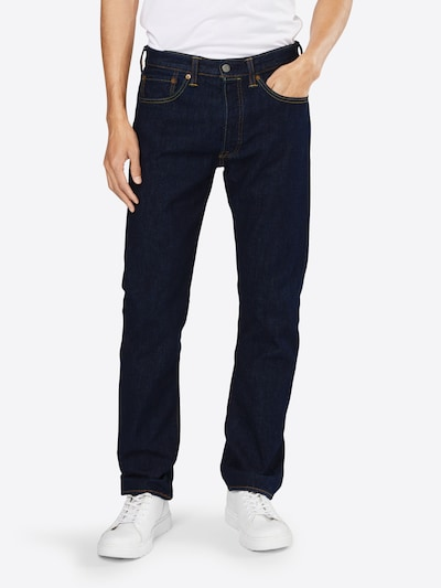 LEVI'S Jeans '501 ORIGINAL FIT' in blue denim, Modelansicht