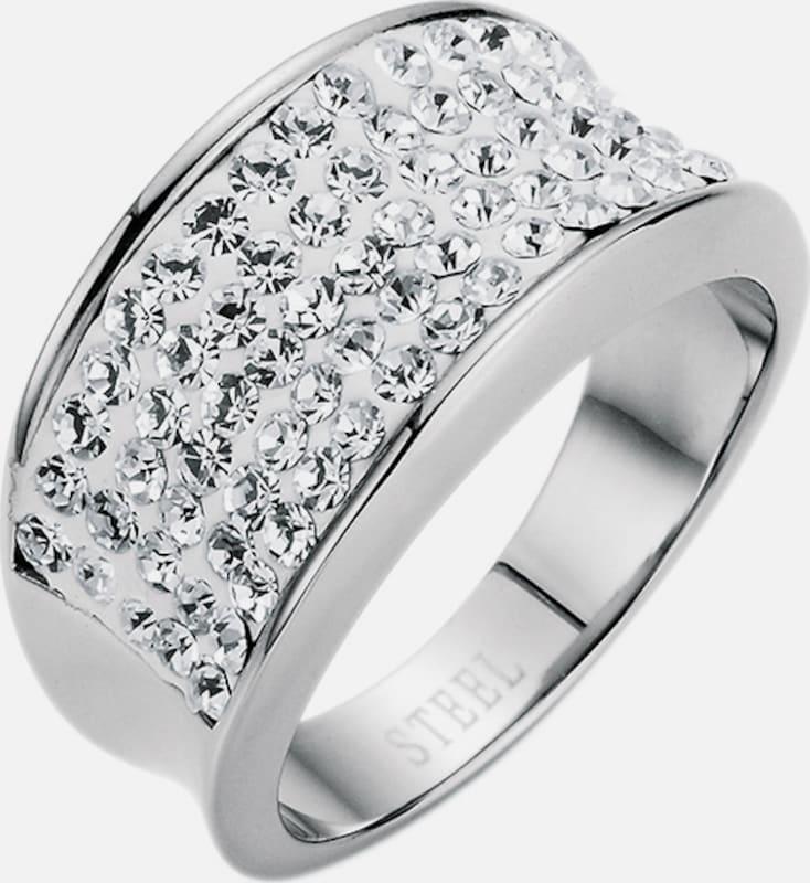"""FIRETTI Ring """"white glamour"""" mit Kristallsteinen"""