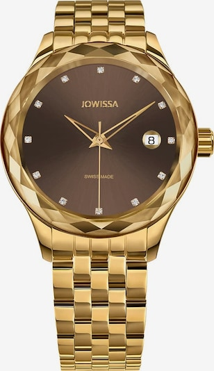 JOWISSA Quarzuhr 'Tiro' Swiss Ladies Watch in braun / gold, Produktansicht