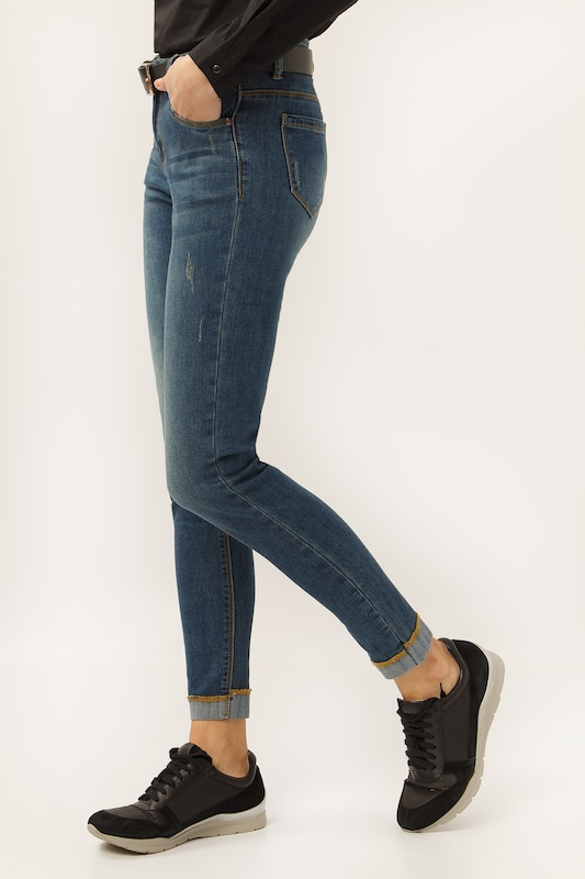 Finn Flare Jeans in blue denim: Frontalansicht