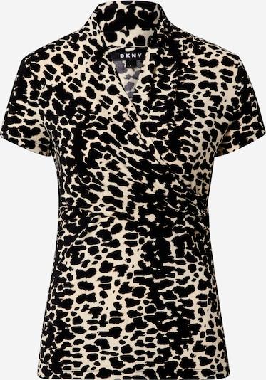 DKNY Shirt in de kleur Beige / Zwart, Productweergave