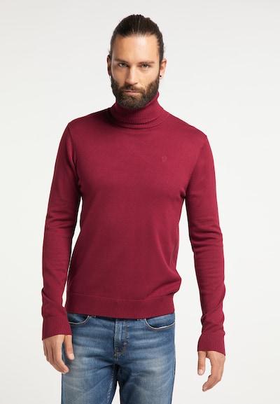 DREIMASTER Pullover in weinrot: Frontalansicht