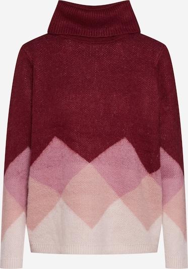 ONLY Pulover 'DAIMI' | bež / roza / vinsko rdeča barva: Frontalni pogled