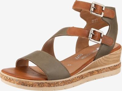REMONTE Sandalette in braun / oliv, Produktansicht