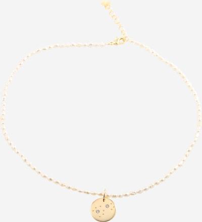 Fräulein Wunder Kette 'Perlen Galaxi' in gold / perlweiß, Produktansicht