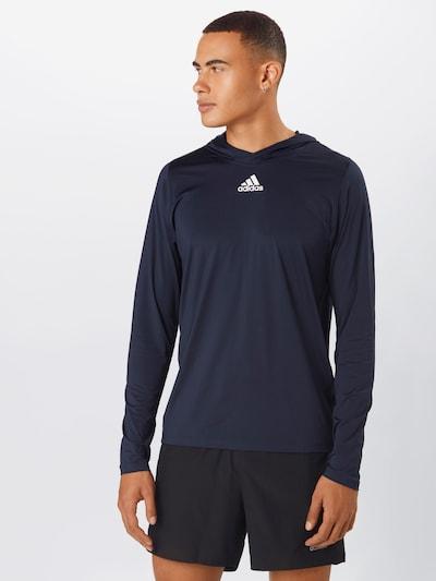 ADIDAS PERFORMANCE T-Shirt fonctionnel en bleu marine / blanc: Vue de face