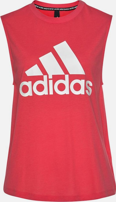 ADIDAS PERFORMANCE Tanktop 'MH Batch Of Sports' in pink / weiß: Frontalansicht