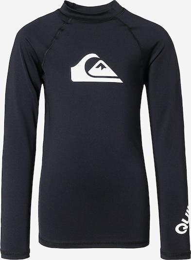 QUIKSILVER Schwimmshirt in schwarz / weiß, Produktansicht