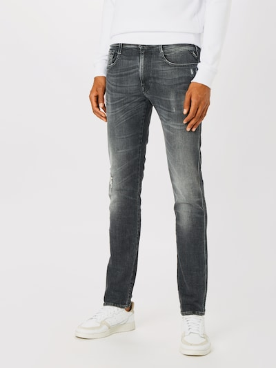 Jeans 'Anbass' REPLAY pe denim gri, Vizualizare model