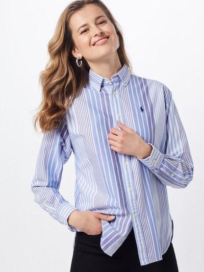 POLO RALPH LAUREN Bluzka w kolorze kremowy / niebieskim, Podgląd na modelu(-ce)