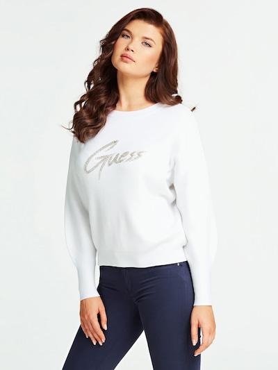 GUESS Pullover in silber / weiß, Modelansicht