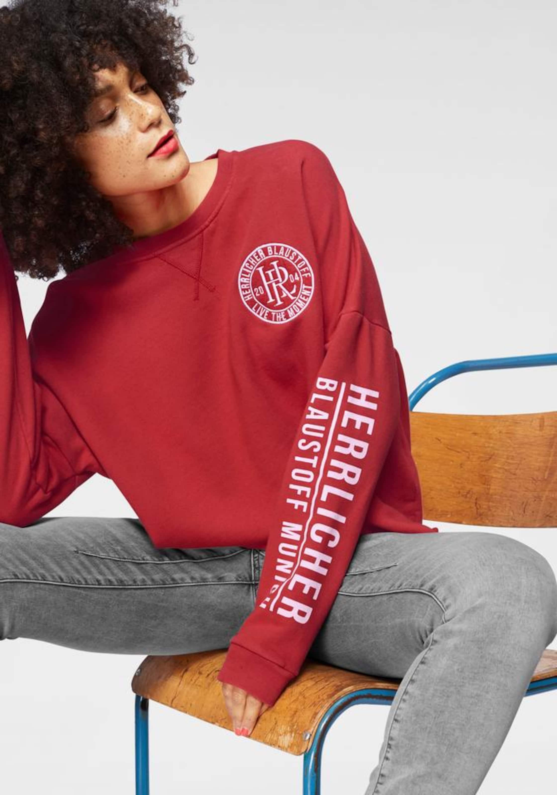 'smila' 'smila' In In Sweatshirt RotWeiß RotWeiß Herrlicher 'smila' Sweatshirt Herrlicher Sweatshirt Herrlicher GLqMSzVpUj