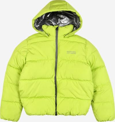 NAME IT Winterjas in de kleur Zilvergrijs / Limoen, Productweergave