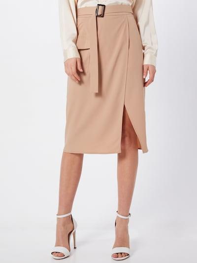 Missguided Rok 'Horn Belted Wrap Utility Midi Skirt' in de kleur Sand: Vooraanzicht