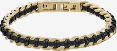 Emporio Armani Armband in goldgelb / schwarz, Produktansicht
