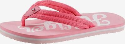 TOMMY HILFIGER Zehentrenner in pink / weiß, Produktansicht
