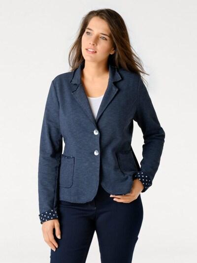 Švarkas iš heine , spalva - tamsiai (džinso) mėlyna, Modelio vaizdas