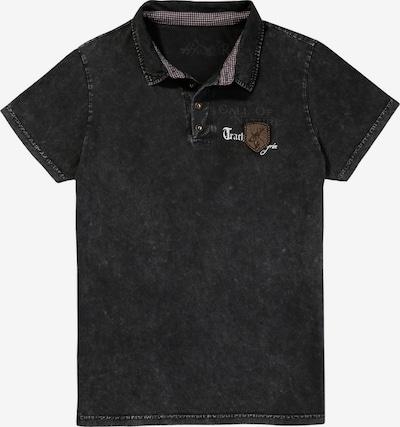 HANGOWEAR Trachtenpoloshirt in anthrazit, Produktansicht