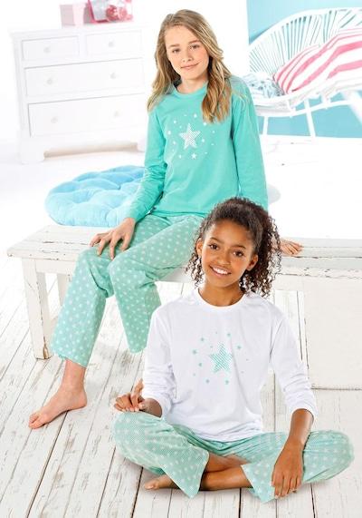 PETITE FLEUR Pyjama in mint / weiß, Produktansicht