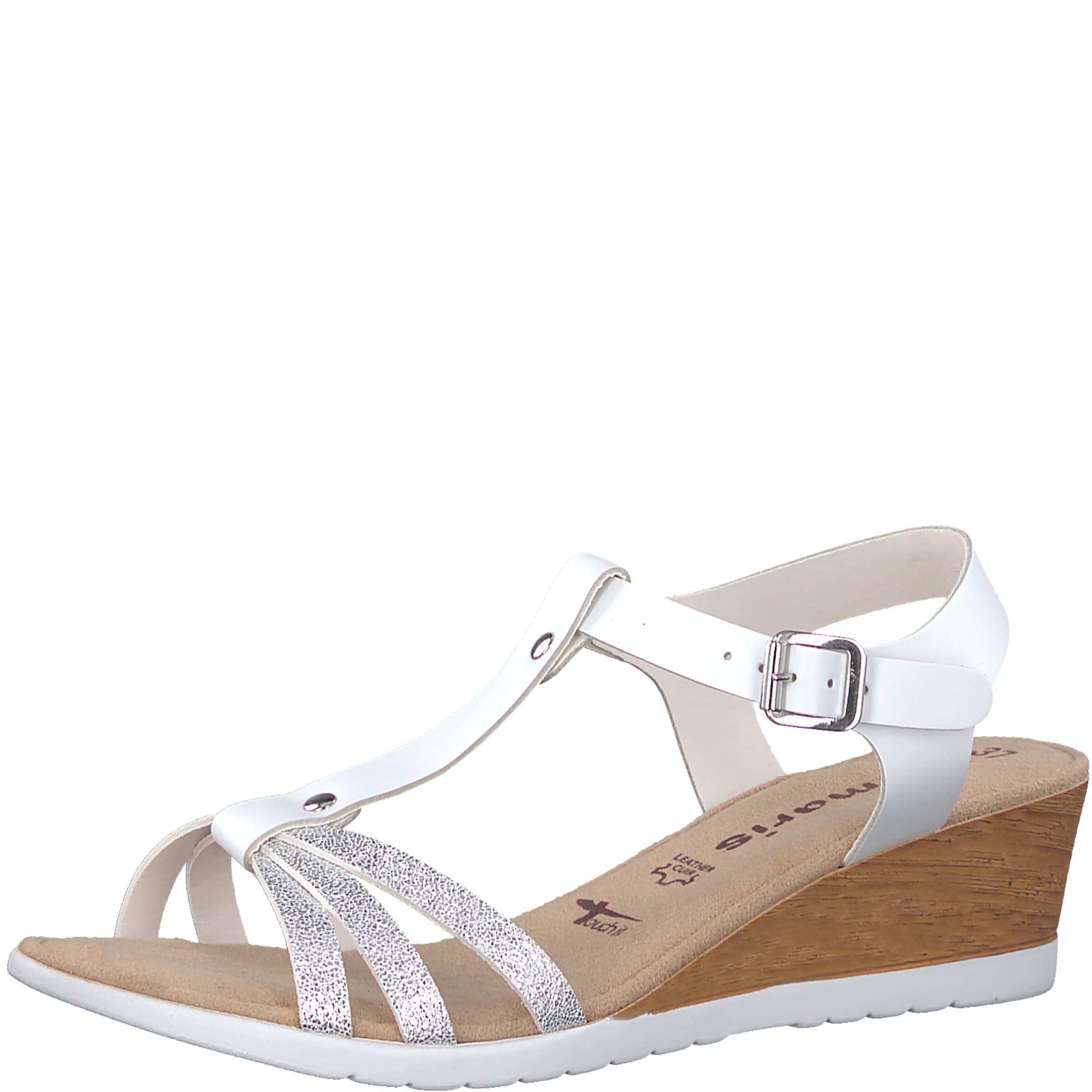 TAMARIS | Sandale 'Medium Sandal Glitter' Glitter' Sandal Schuhe Gut getragene Schuhe c30454