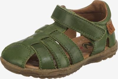 NATURINO Sandale in dunkelgrün, Produktansicht