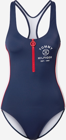 Tommy Hilfiger Underwear Maillot de bain en bleu marine / rouge / blanc, Vue avec produit