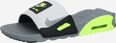 Nike Sportswear Plážová/koupací obuv 'Nike Air Max 90' - šedá / svítivě zelená / černá, Produkt