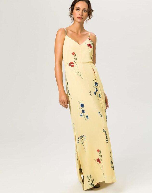 ivy oak kleider strap dress gelb in gelb about you. Black Bedroom Furniture Sets. Home Design Ideas