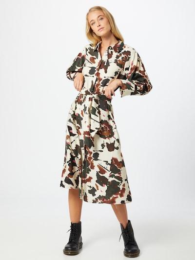 OBJECT Kleid 'Alika' in sand / braun / rosa / schwarz, Modelansicht
