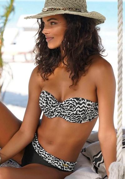 LASCANA Bikiniöverdel 'Clara' i beige / svart, På modell