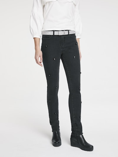 heine Jeans 'Aleria' in black denim, Modelansicht