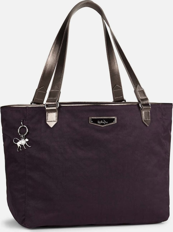 KIPLING City Lots of Schultertasche 52 cm in dunkellila: Frontalansicht