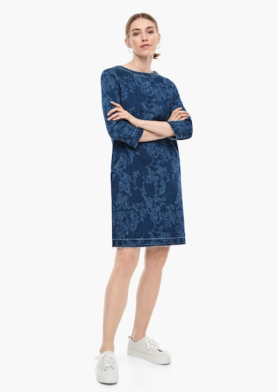 s.Oliver Denim-Kleid in blau, Modelansicht