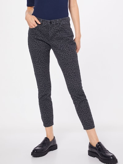OPUS Jeans 'Elma' in de kleur Donkergrijs, Modelweergave