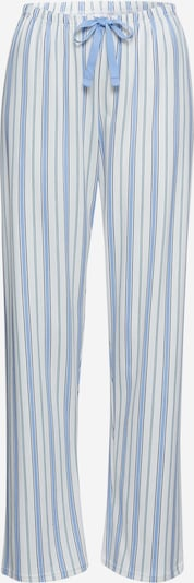 CALIDA Pantalon de pyjama en bleu clair / blanc, Vue avec produit